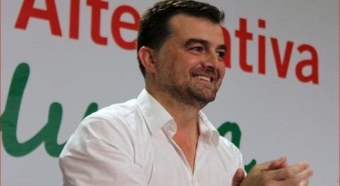 El coordinador general de IU en Andalucía y candidato a la Presidencia de la Junta, Antonio Maíllo