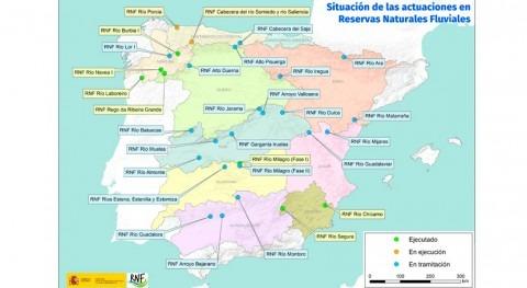 MITECO invertirá más 14 millones euros Reservas Naturales Fluviales