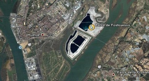 120 millones de toneladas de residuos de fosfoyesos ocupan 1.200 hectáreas