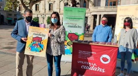 Valencia reparte mascarillas reutilizables impacto desechables saneamiento