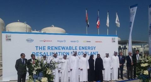 Veolia y MASDAR inauguran Abu Dabi planta desalación alta eficiencia energética