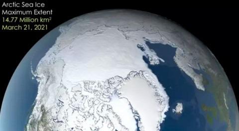 hielo Ártico alcanza séptimo máximo más 1979