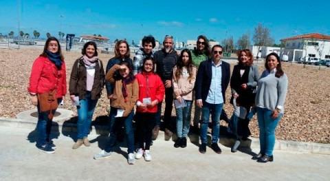 Medio centenar personas visitaron depuradora Rincón Caya Badajoz