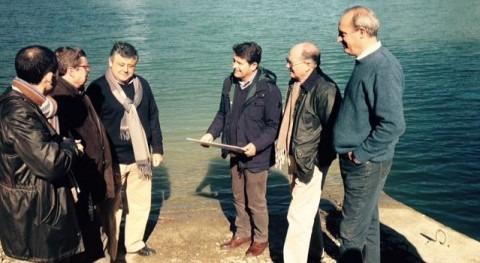 Juan Cerrato visita el embalse de Conde de Guadalhorce