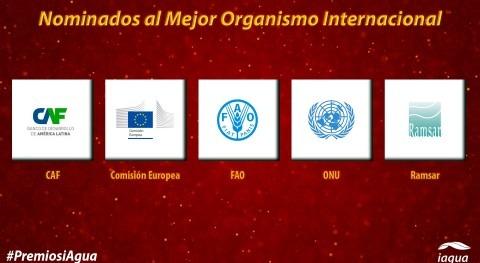 Estos son 5 candidatos Mejor Organismo Internacional Premios iAgua 2018