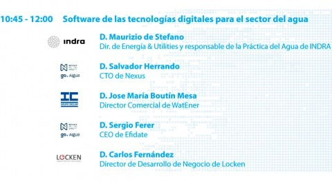 software tecnologías digitales sector agua, debate #SmartWaterSummit