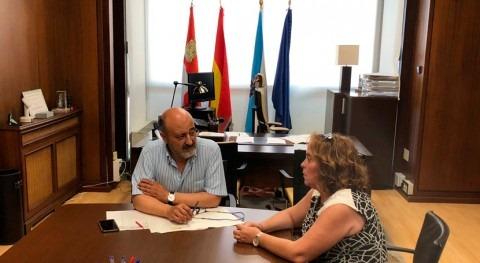 presidente Confederación Miño-Sil se reúne nueva alcaldesa Petín