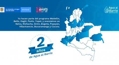 76.000 colombianos se han beneficiado primeros 2 años programa Agua al Barrio