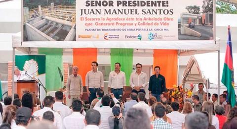 Colombia invierte proyectos construcción alcantarillado y saneamiento Santander