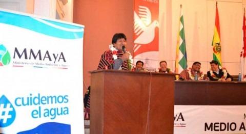 """presidente Bolivia aprueba inversión programa """"MiAgua"""" 28 municipios"""