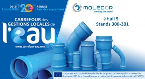 """Molecor estará presente """"20e Carrefour des Gestions Locales l'Eau"""" 30 y 31 enero"""