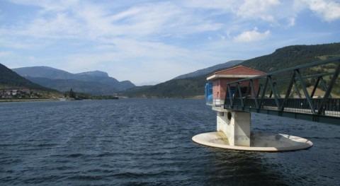 puesta carga presa Nagore, Navarra, fase final desembalses controlados