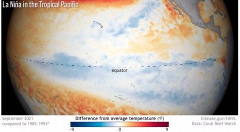 nuevo evento Niña se desarrolla Océano Pacífico