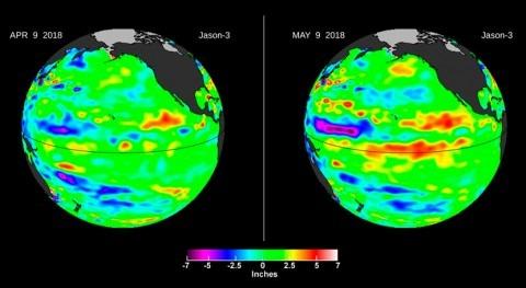 océano Pacífico da señales nuevo episodio Niño