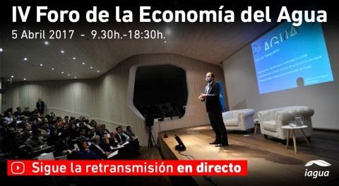 iAgua emitirá streaming IV Foro Economía Agua