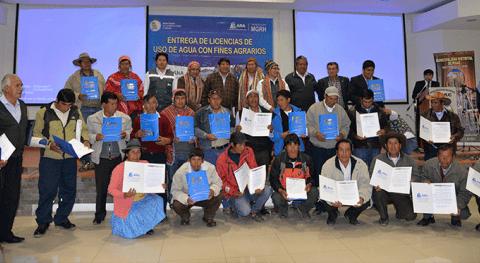 Más 4000 productores Cusco reciben licencias uso agua fines agrarios ANA