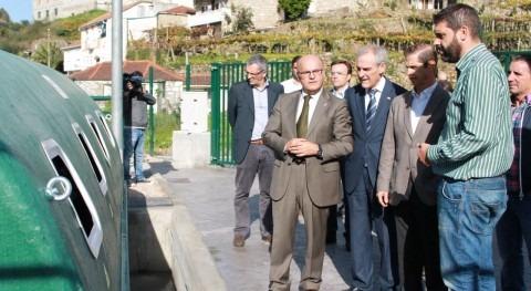 Visita de las autoridades a la nueva EDAR.