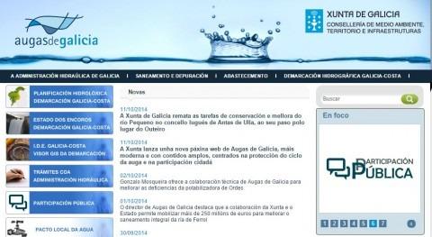 Augas de Galicia presenta nueva web