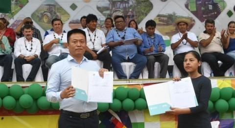 Gobierno Bolivia concreta construcción megaobra agua potable Trinidad