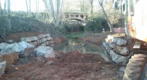 """CHJúcar impulsa adecuación ambiental azud """"Central Carburos"""" Teruel"""