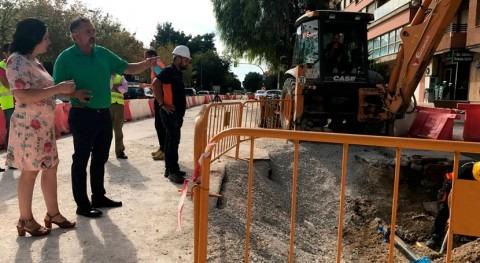 Terminadas obras nueva red pluviales Alameda Cervantes Lorca
