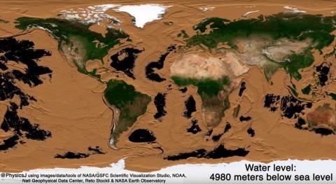 ¿Cómo sería Tierra si desaparecieran todos océanos?
