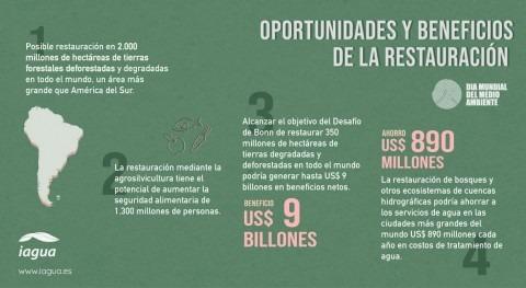 Infografía Día Mundial Medio Ambiente 2021: Oportunidades y beneficios restauración