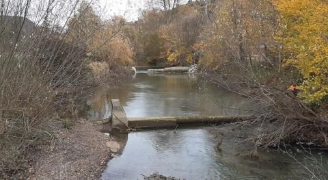 URA ha demolido y retirado azud y antigua tubería paso río Nervión Orduña