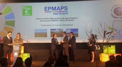 Agua Quito recibe reconocimientos buenas prácticas empresariales