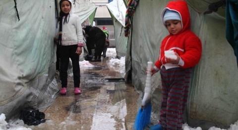 La tormenta afecta desde hace días a la región y ha provocado un importante descenso de las temperaturas (UNRWA)