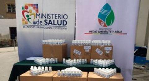Bolivia entrega 5,9 millones pastillas potabilizadoras garantizar agua segura