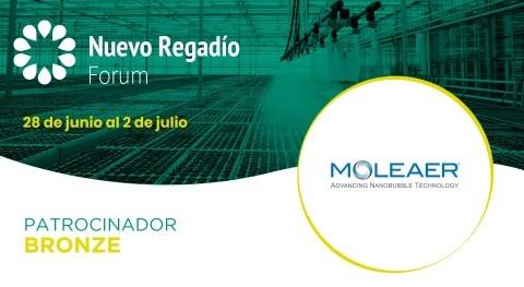 Moleaer, especialistas tecnología nanoburbujas, Bronce Sponsor Nuevo Regadío Forum