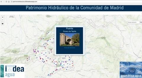 Web Mapping patrimonio hidráulico Comunidad Madrid