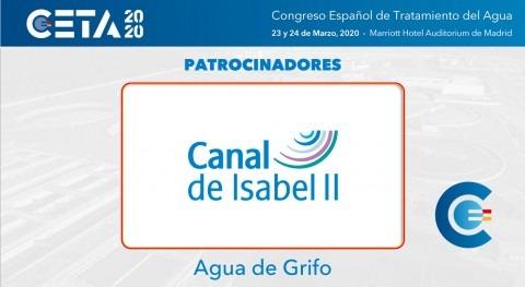 Canal Isabel II, patrocinador agua grifo CETA2020