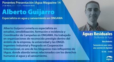 presentación iAgua Magazine 14 contará Alberto Guijarro (ONGAWA) como ponente