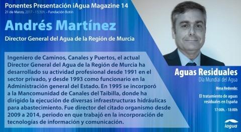 Director General Agua Murcia, ponente presentación iAgua Magazine 14