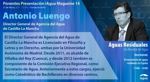 Director General Agencia Agua CLM, ponente presentación iAgua Magazine 14