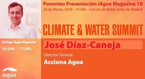 José Díaz-Caneja, Acciona Agua, será protagonistas Climate & Water Summit 2018