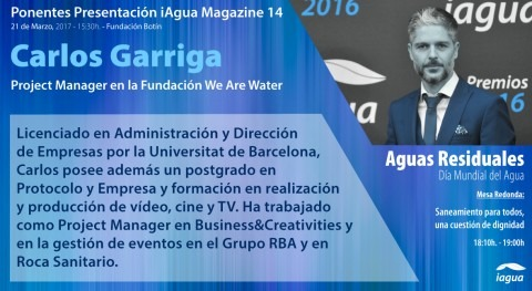 Carlos Garriga We Are Water participará presentación iAgua Magazine 14