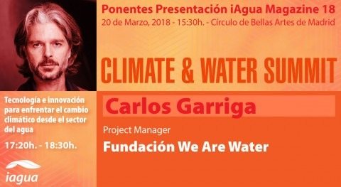Carlos Garriga, Fundación We Are Water, ponente Climate & Water Summit