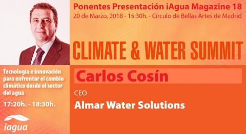 Carlos Cosín, CEO Almar Water Solutions, participará Climate & Water Summit