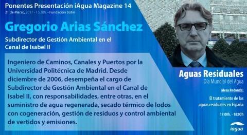Gregorio Arias Sánchez (Canal Isabel II), ponente presentación iAgua Magazine 14
