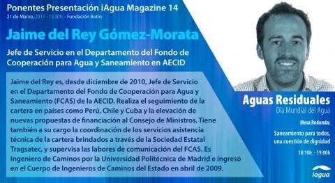 Jaime Rey (AECID), ponente confirmado presentación iAgua Magazine 14