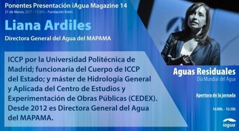 Liana Ardiles, Directora General Agua España, abrirá presentación iAgua Magazine 14
