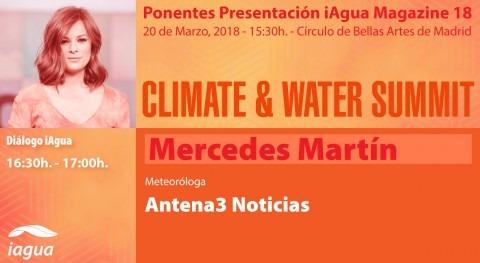 meteoróloga y presentadora tiempo Mercedes Martín estará Climate & Water Summit