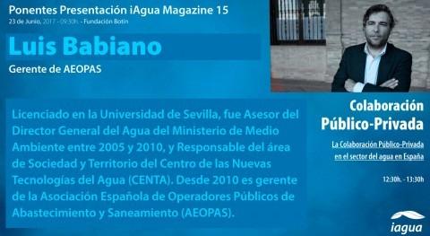 Luis Babiano AEOPAS participará mesa redonda presentación iAgua Magazine 15