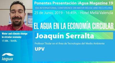 Joaquín Serralta será ponente presentación iAgua Magazine 19