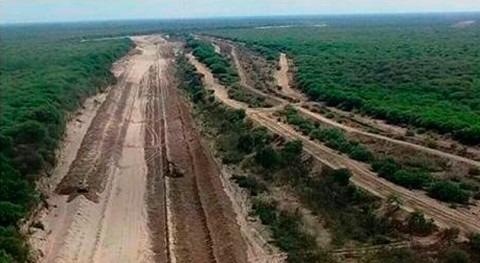 nuevo canal río Pilcomayo que ya tiene más 36 km