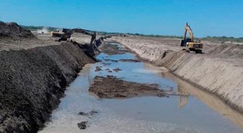 nuevo canal río PIlcomayo ya tiene 6.000 metros construídos