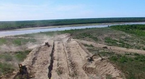 aguas río Pilcomayo ya se ven lado argentino